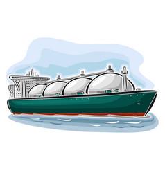 Lng tanker vector