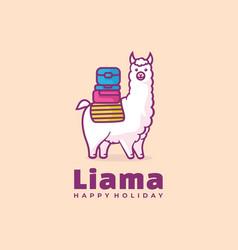 logo sheep simple mascot style vector image