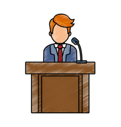 Man at podium design vector