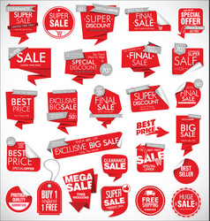 modern sale banners and labels red collection 04 vector image