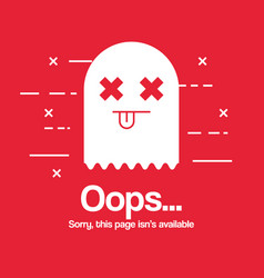 Oops page no found concept vector