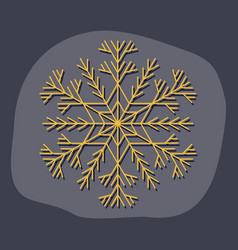 Paper sticker on stylish background snowflake vector