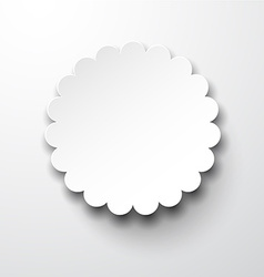 Paper white round flower note vector