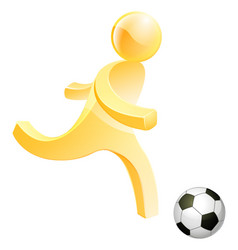 person playing soccer vector image