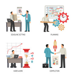 planning 2x2 design concept vector image