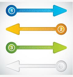 presentation templatebusiness arrows vector image