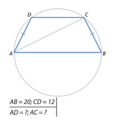problem of finding a diagonal and boko sides vector image