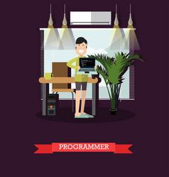 programmer concept in flat vector image