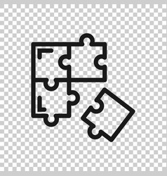 Puzzle compatible icon in transparent style vector