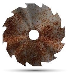 Realistic circular saw vector