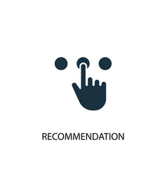 Recommendation icon simple element vector