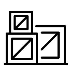 Reconstruction boxes icon outline style vector
