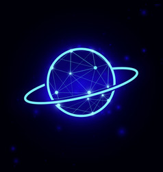 saturn planets planet icon vector image