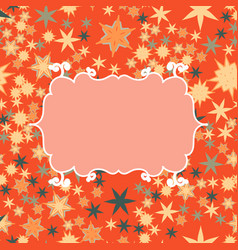 scrapbooking template with place for text for vector image