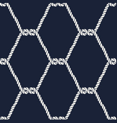 Seamless nautical rope pattern - half knots vector