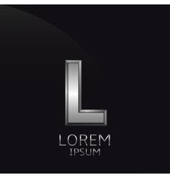 Silver L Letter emblem vector