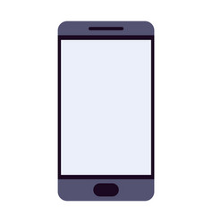 smartphone colorful silhouette on white background vector image