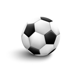 soccer ball isolated on white background sport vector image