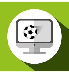 Sport design Technology icon white background vector image