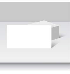 stack clean business cards vector image