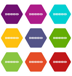 Step by step infographic icon set color hexahedron vector