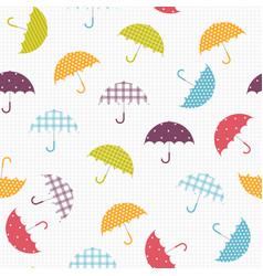 summer seamless umbrella pattern cartoon style vector image