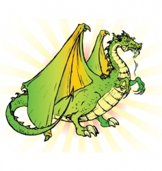 tale dragon vector image
