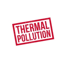 Thermal Pollution rubber stamp vector image