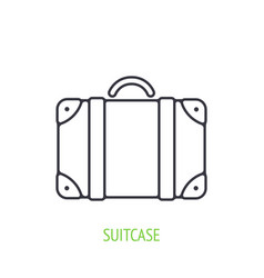 traveling suitcase outline icon vector image
