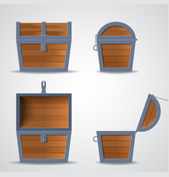 treasure chest flat vector image
