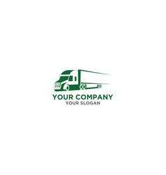 trucking logistic logo design vector image