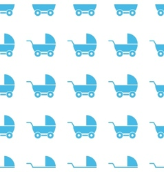 Unique Baby carriage seamless pattern vector image