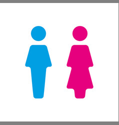 blue and pink wc icon toilet vector image