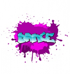 graffiti dance background vector image
