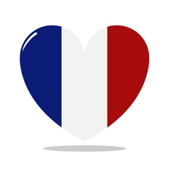 heart with flag of france vector image vector image