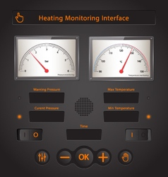 Heating Interface vector image vector image