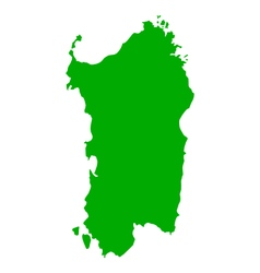 Map of Sardinia vector image