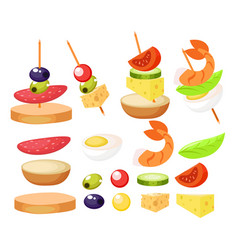 canape set designer constructor vector image vector image