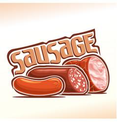 logo of sausage vector image