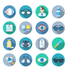 ophthalmology icon set vector image