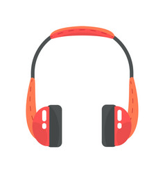 orange wireless headphones colorful cartoon vector image vector image