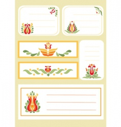 simple floral print cards vector image vector image