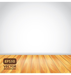 white wall wooden floor vector image