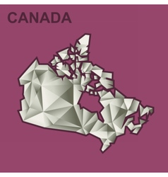 Digital canada map with abstract vector image vector image