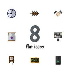 Flat icon oneday set of cellphone watch mattress vector