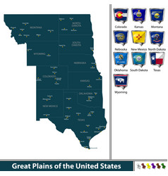 great plains of the united states vector image