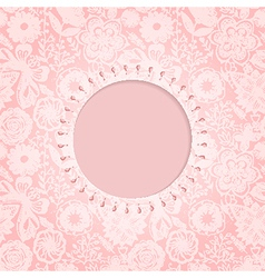 Ornamental round lace frame Background for vector image