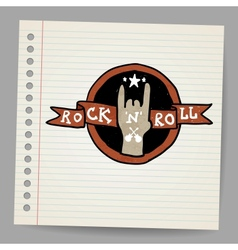 Rock and roll sign vector image vector image