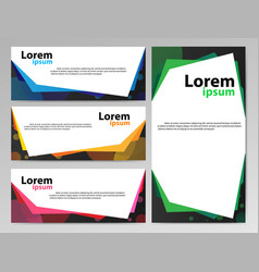 banners paper2 vector image vector image