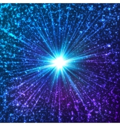 Blue shining cosmic stars vector image